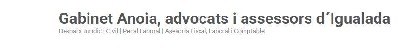 Gabinet Anoia,  advocats i assessors d´Igualada